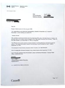 CRA interest arrears relief tax consultants